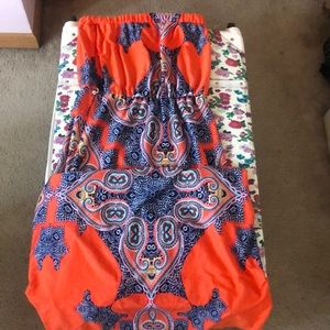 Colorful patterned maxi dress for summer